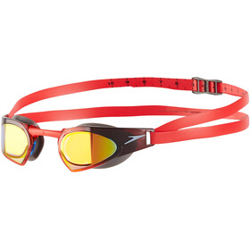 speedo Fastskin Prime Mirror Goggles usa charcoal/white/lava red